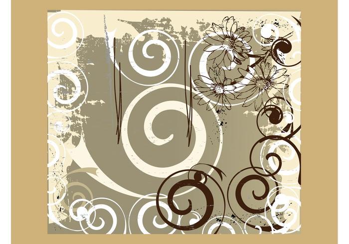 Grunge Floral Backdrop