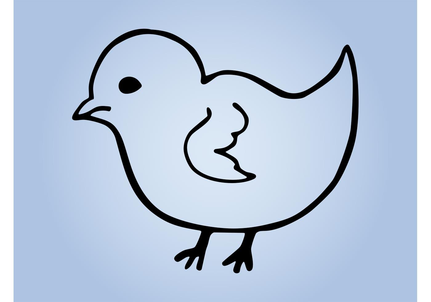 Bird Outline Free Vector Art 6107 Free Downloads