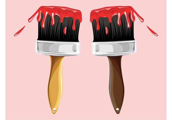 Red Paint Brushes