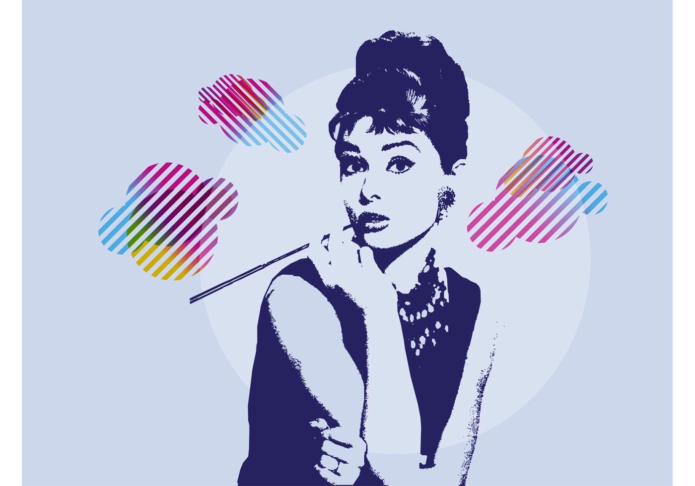 Audrey Hepburn Download Free Vector Art Stock Graphics