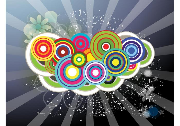 Färgglada cirklar bakgrundsdesign