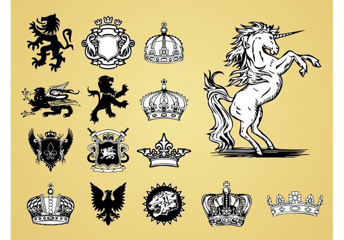 Antique Heraldry Vectors