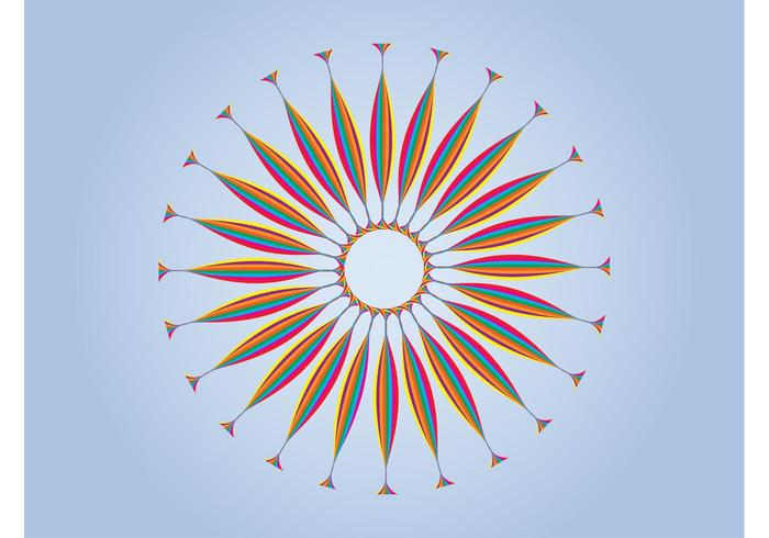 Rainbow Sun Design
