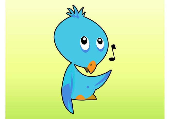 Singing Bird Cartoon
