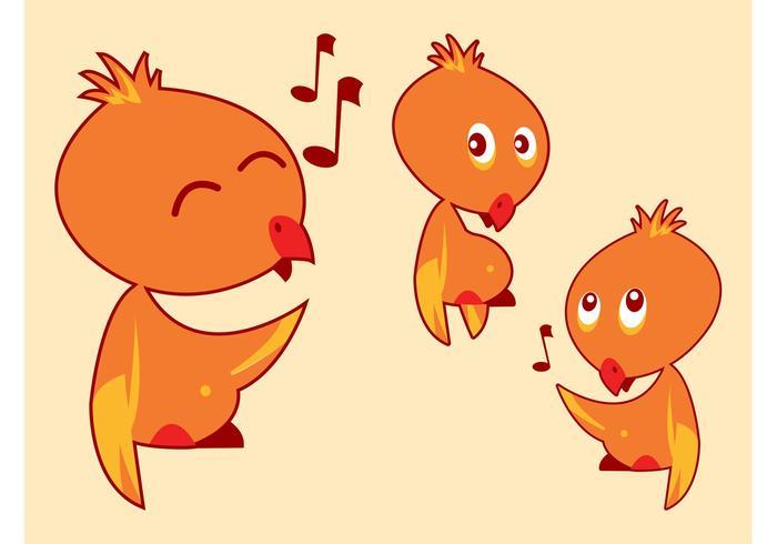 Cartoon Birds Singing