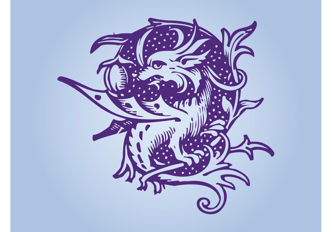 purple dragon download free vector art stock graphics