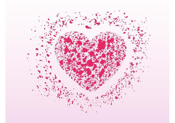 Romantisches Grunge-Herz