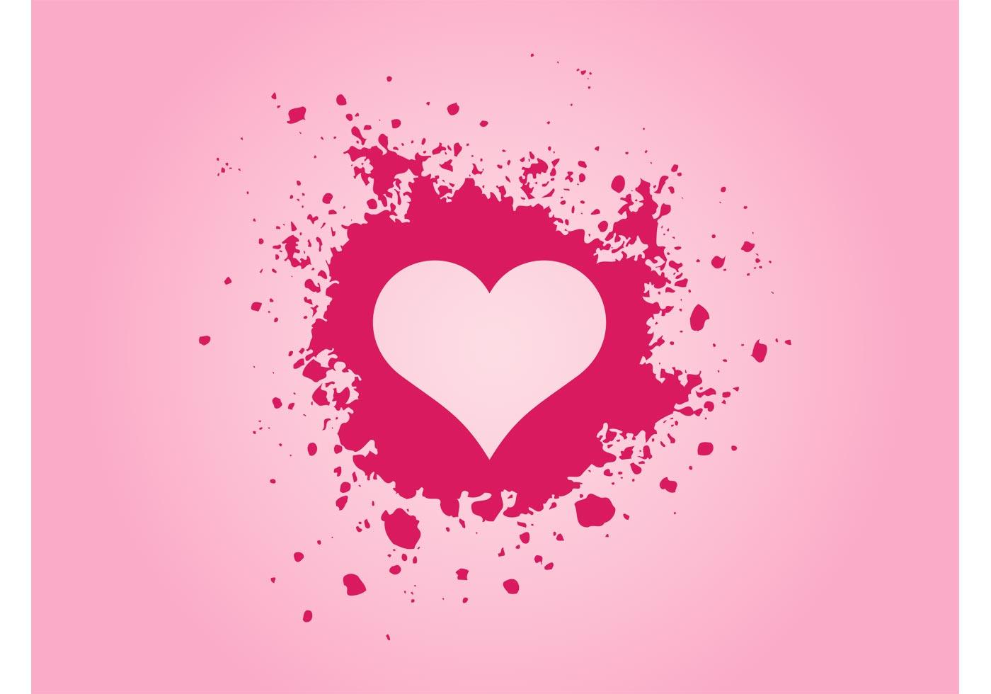 Download Pink Grunge Heart - Download Free Vector Art, Stock ...