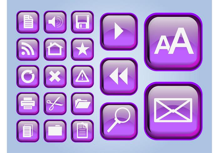 Glossy Interface Icons