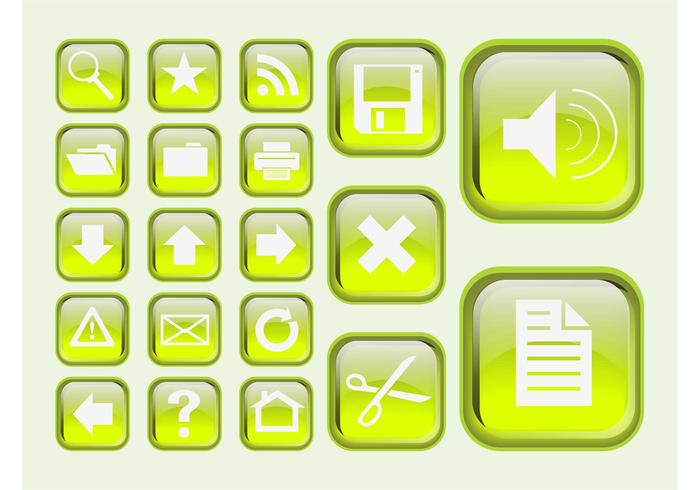Green Interface Icons