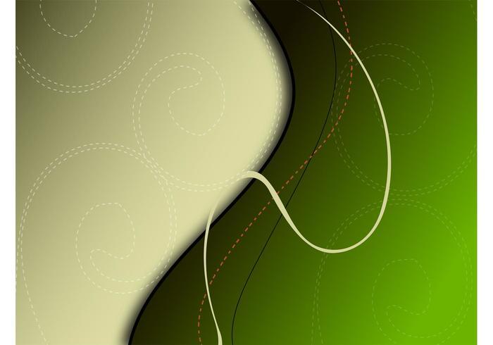 Green Swirls Background