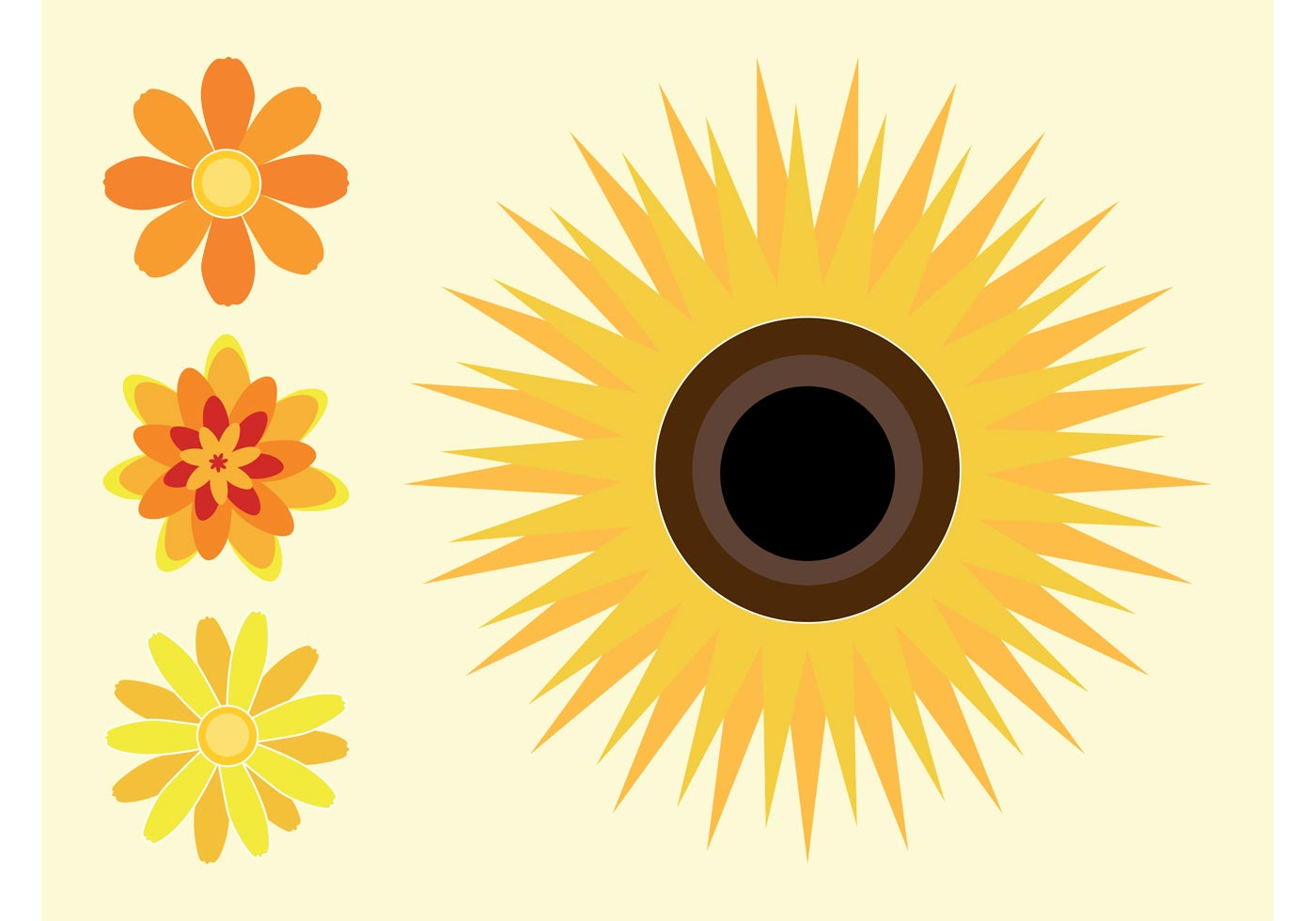 Sunflowers - Download Free Vector Art, Stock Graphics & Images