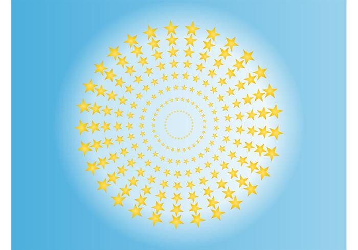Star Circles Vector