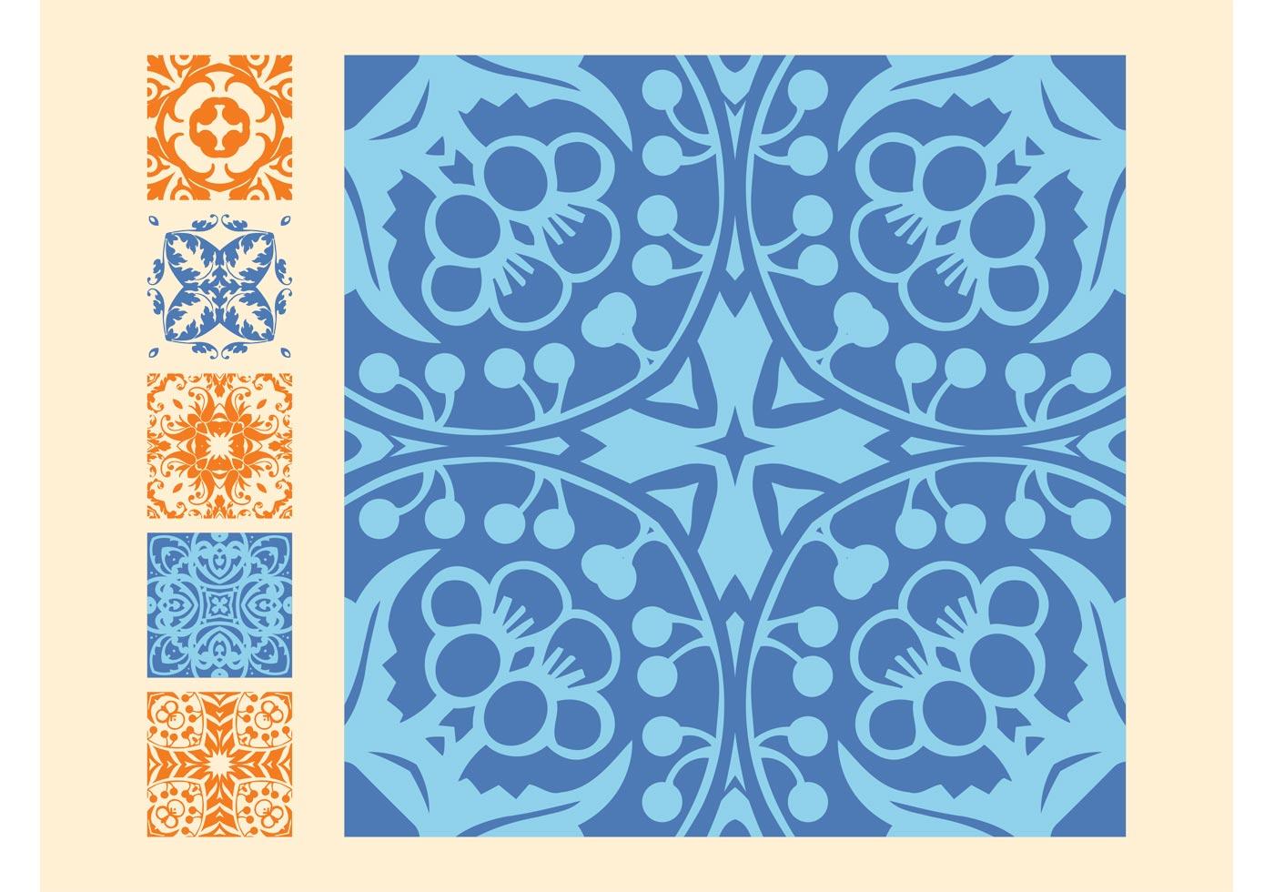 Vintage Tiles Free Vector Art 11653 Free Downloads