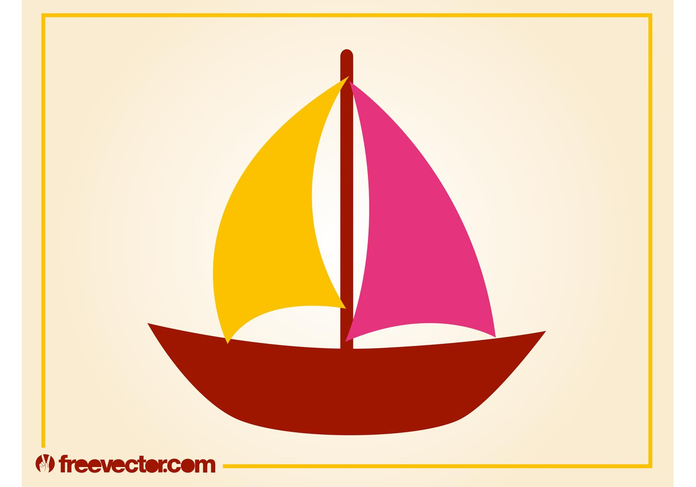 stylized sailboat vector download free vector art stock