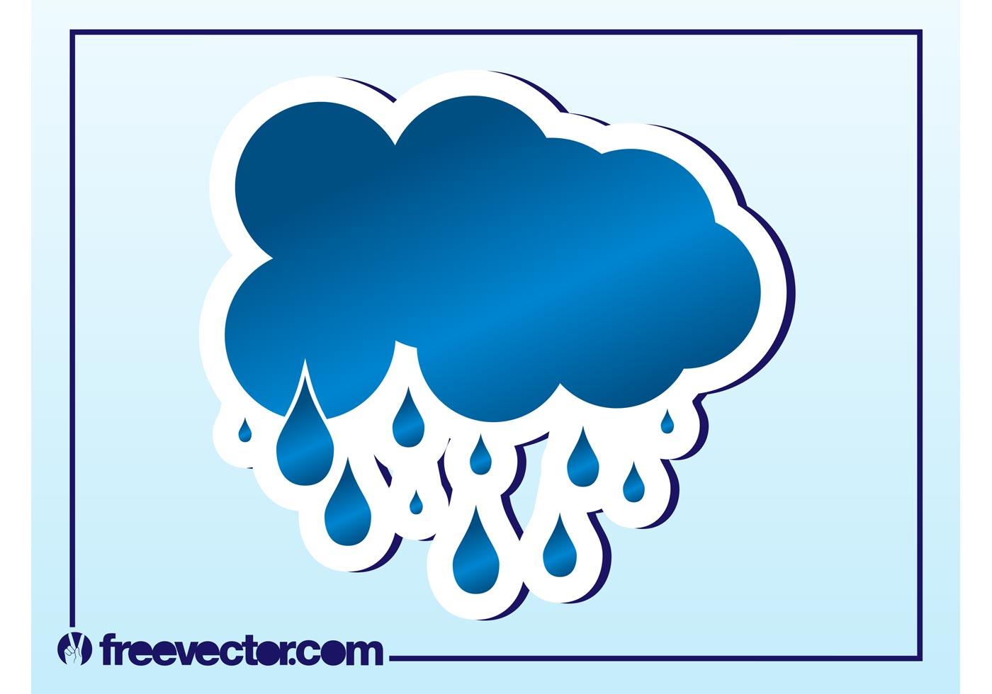 Rain Cloud Vector Download Free Vector Art Stock