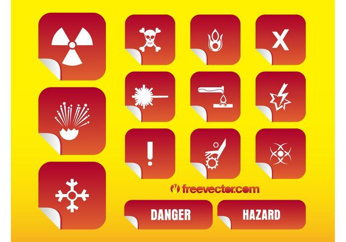 Hazard Stickers Vectors