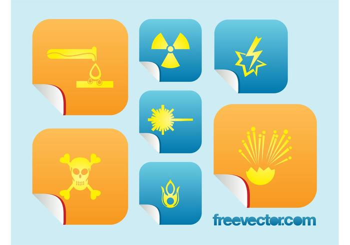 Chemical Danger Icons