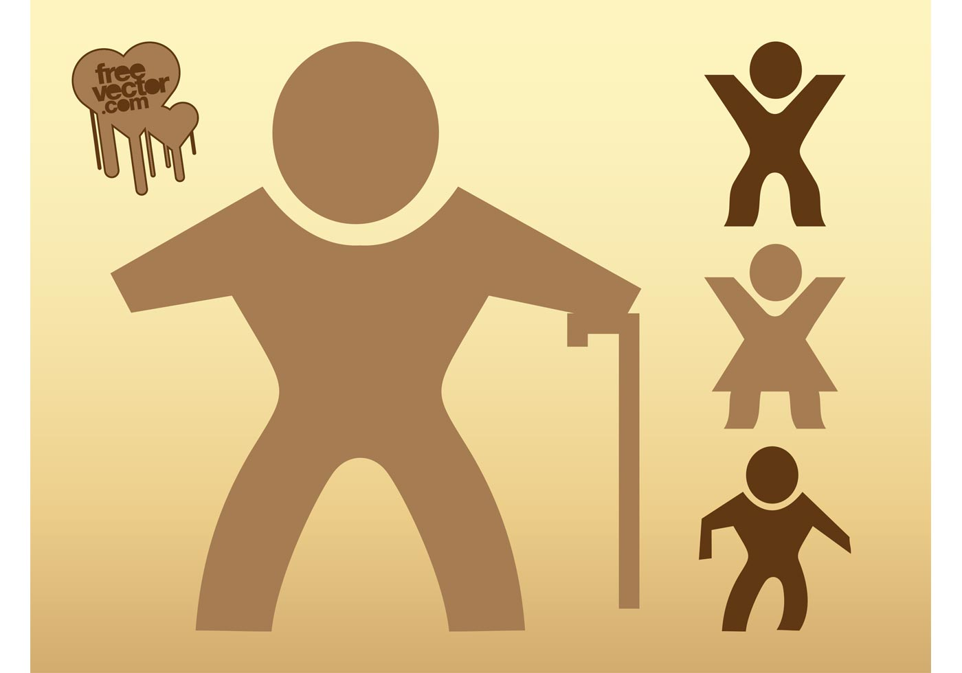 Traveling People Silhouettes Vector Art Graphics: Walking People Silhouettes