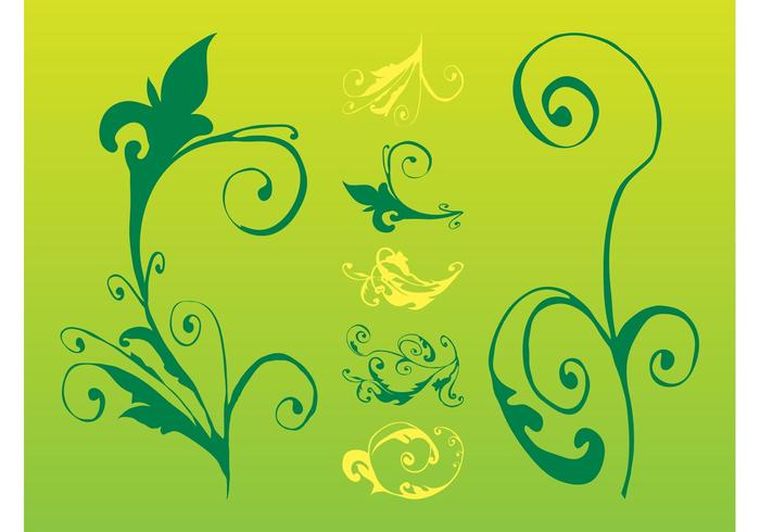 Swirling Plants And Flowers