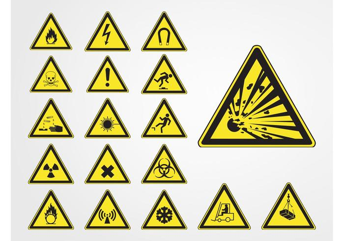 Hazard Symbols Download Free Vector Art Stock Graphics Images