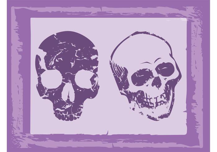 Old Grunge Skulls