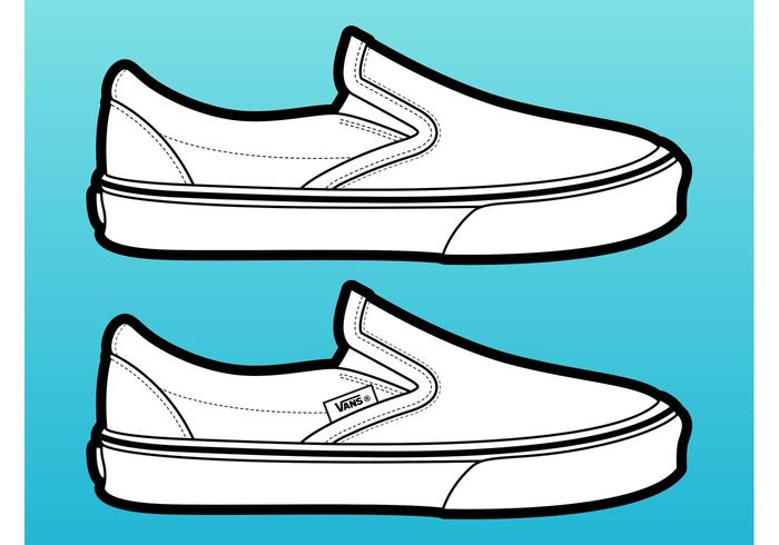 Vans Shoes Free Vector