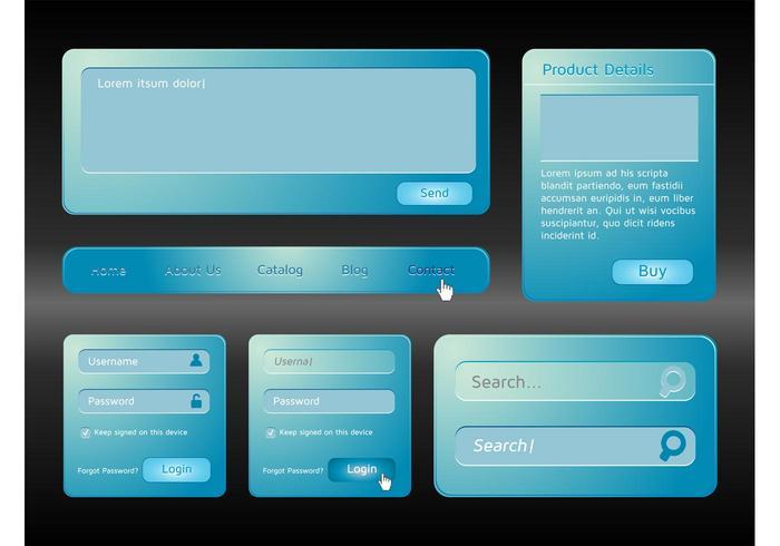 Blue Website Interface