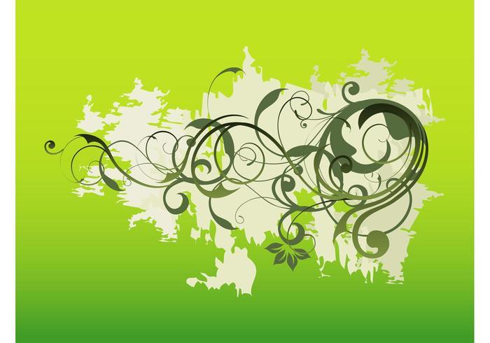 Swirling Grunge Plants