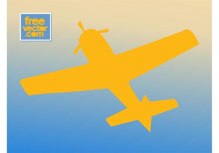 Retro Airplane Silhouette