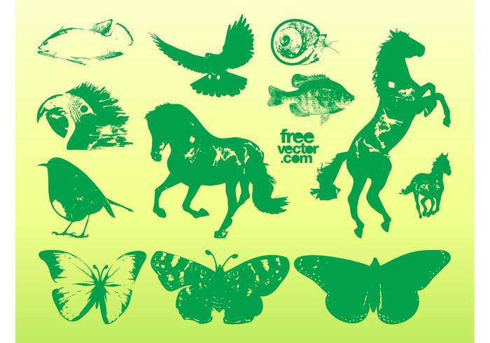Green Animal Graphics