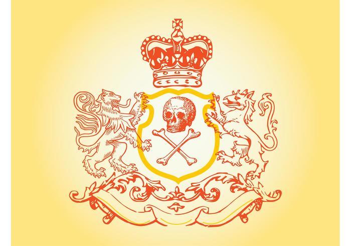 Skull Blazon Vector
