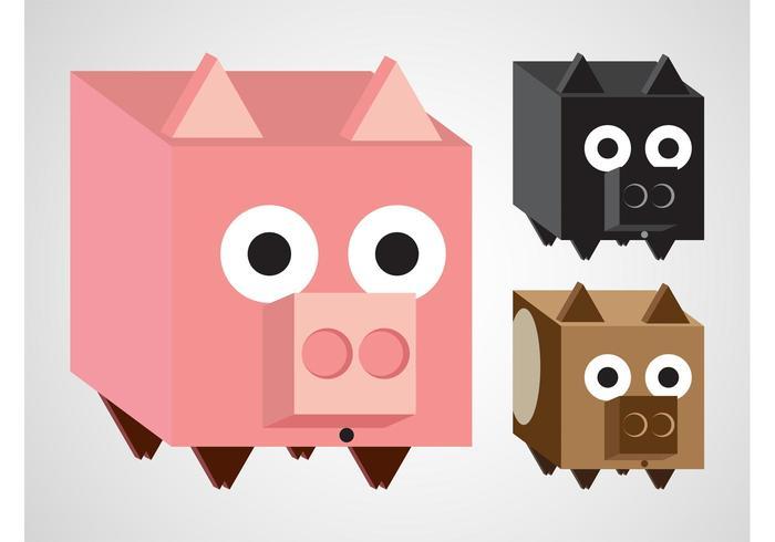 Pig Vector Cartoons