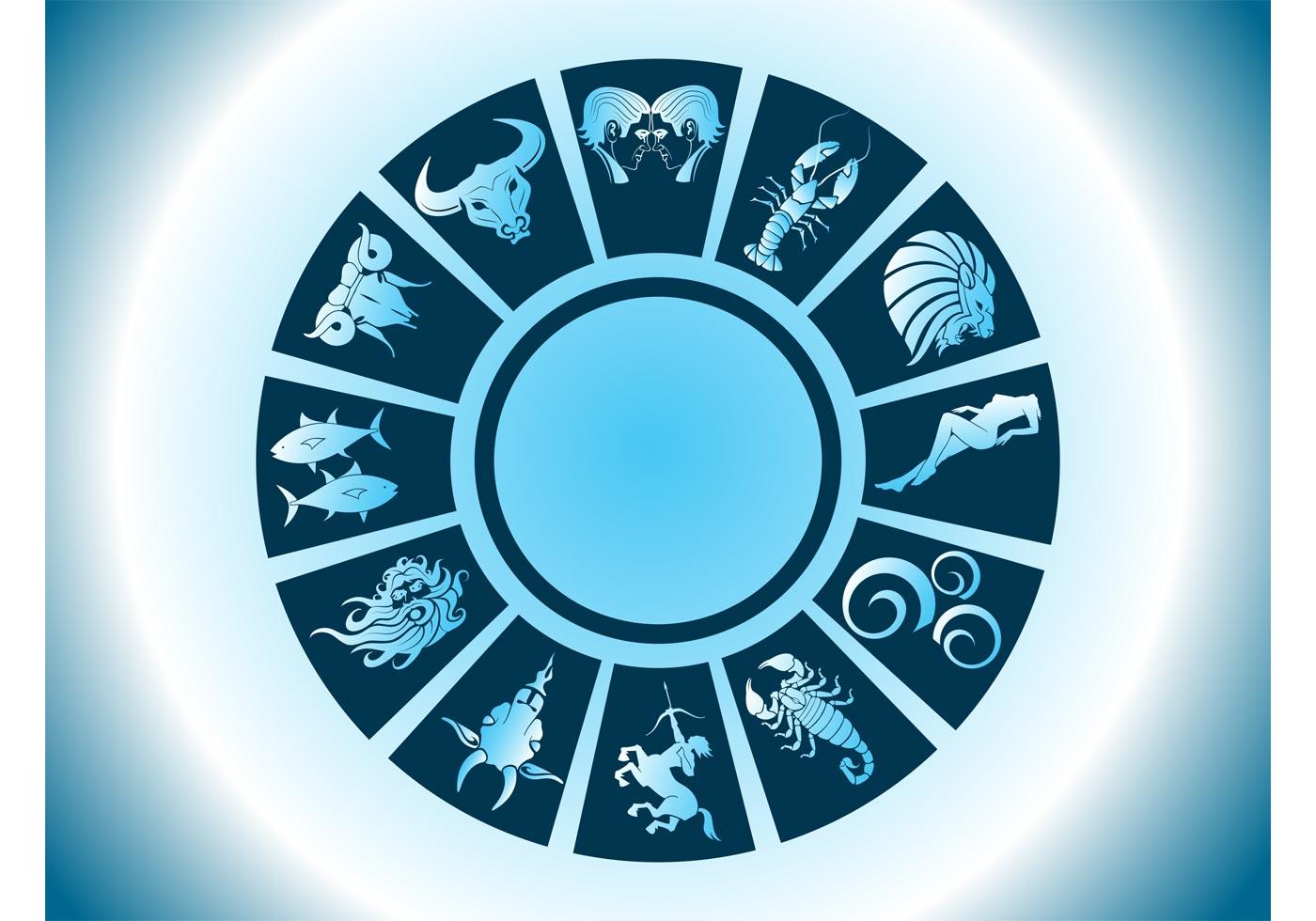 zodiac circle vector download free vector art stock