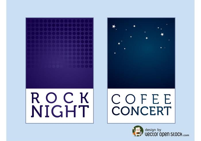 Music Posters Vectors