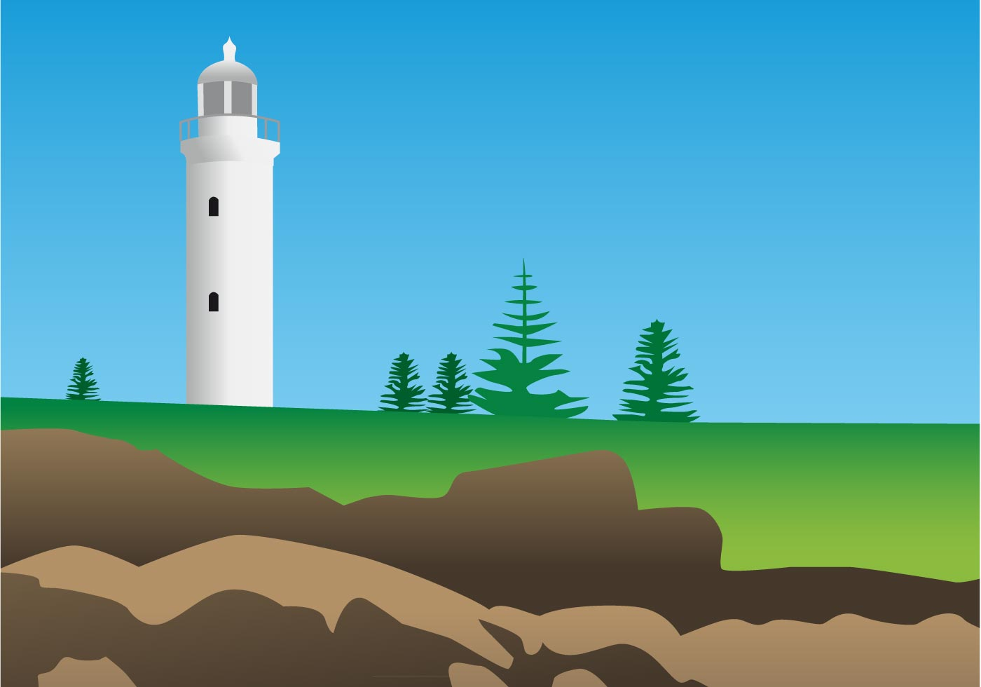 Lighthouse Vector Graphics Download Free Vector Art
