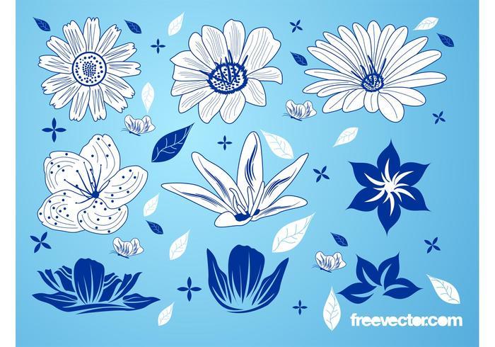 Blooming patrón de flores