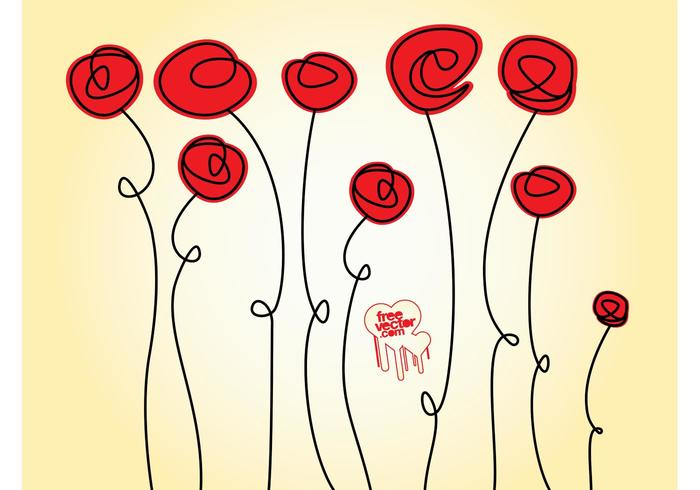 Doodles roses