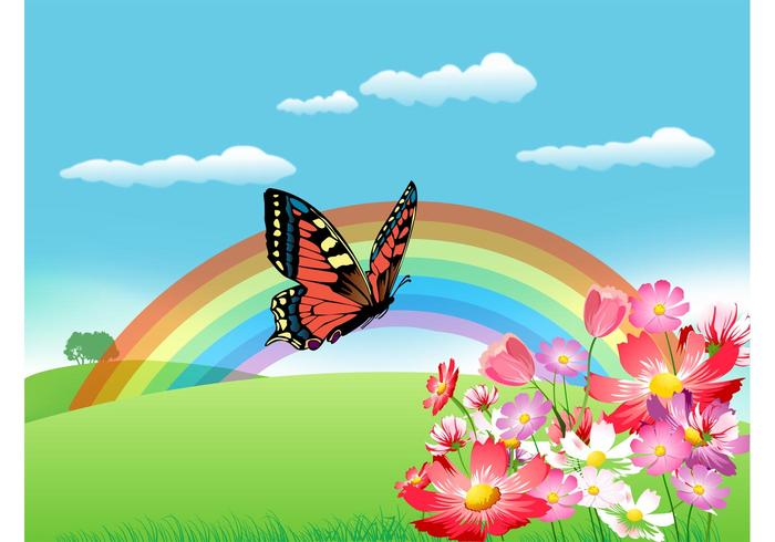 Summer Rainbow Vector