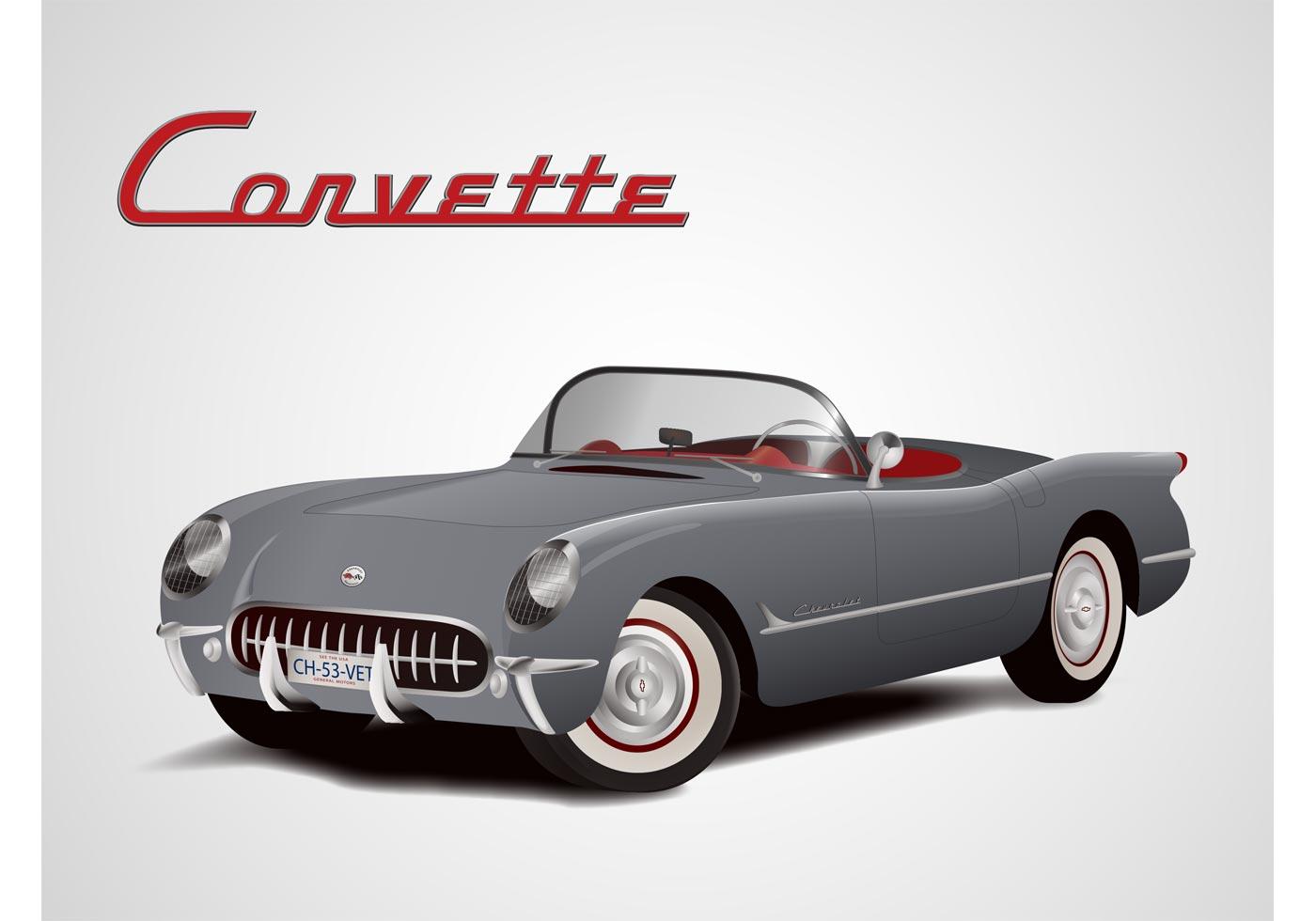 chevrolet corvette vector download free vector art