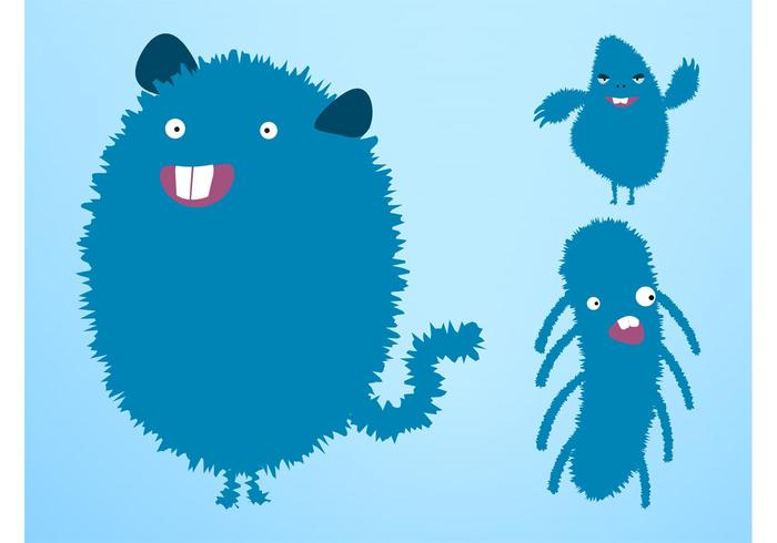 Happy Vector Monsters