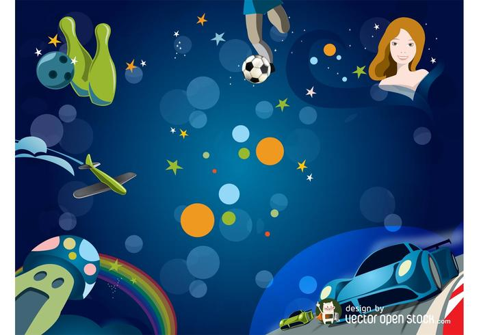 Kids Background Vector