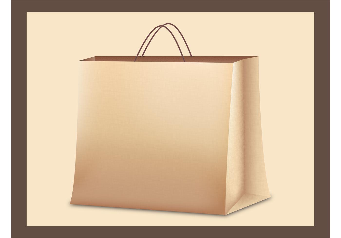 Paper Bag Vector Download Free Vector Art Stock