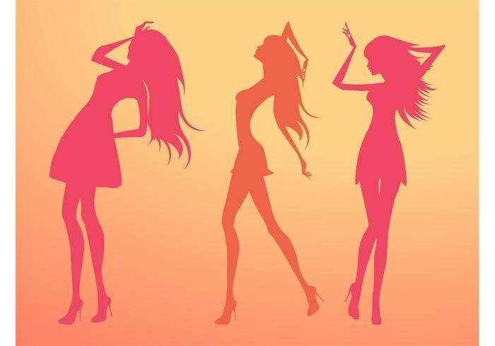 Silhouette Vector Girls