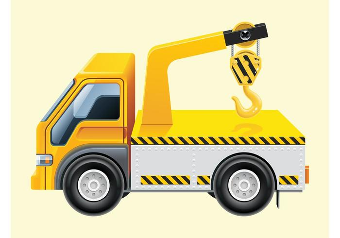 Hook Lift Truck Vector