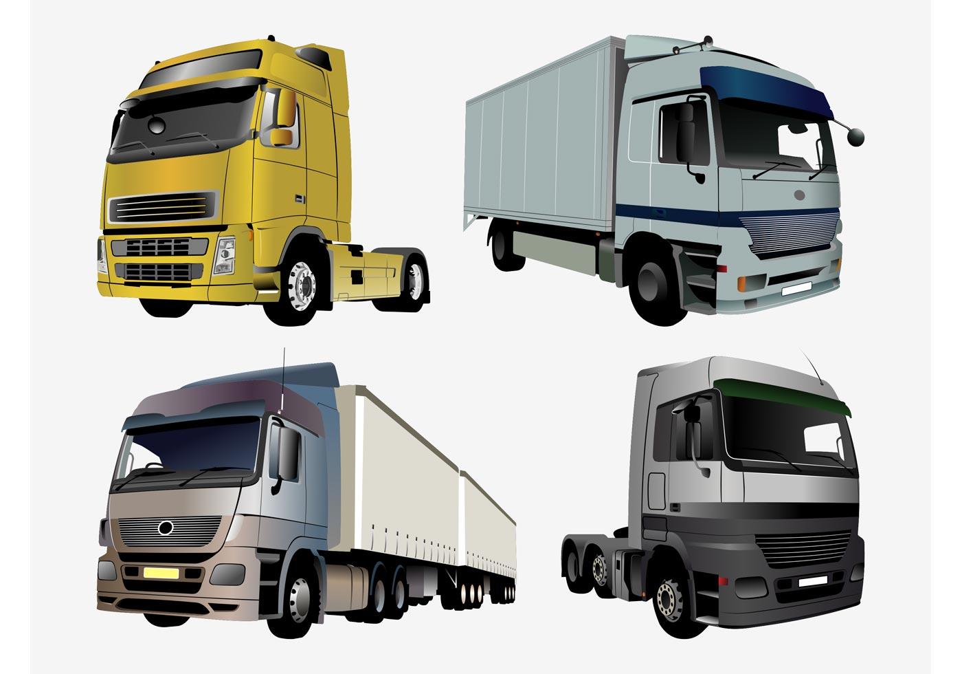 Transport Truck Free Vector Art