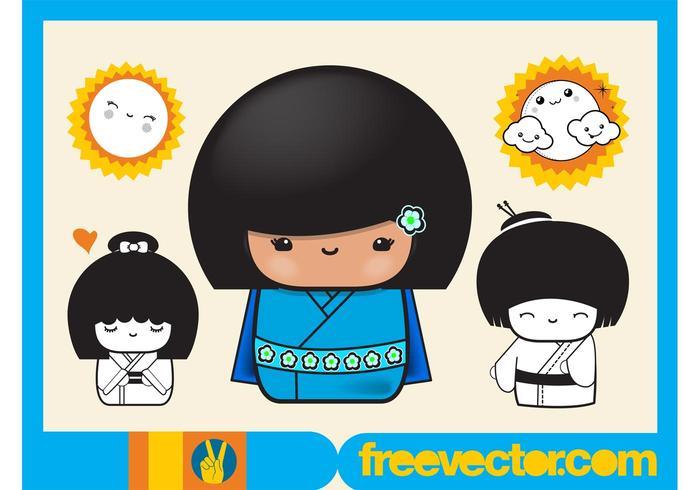 Asian Girls Cartoons