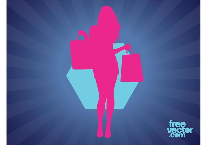 Shopping Woman Silhouette
