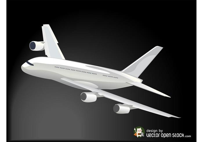 Flying Plane Vector