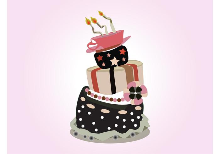 Birthday Cake Images Vektor ~ Vector birthday cake download free vector art stock graphics